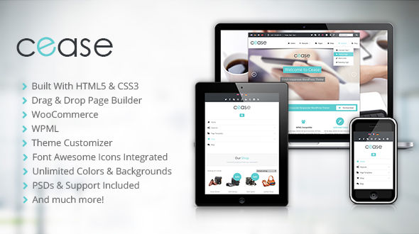 Cease – Fresh Corporate WordPress Theme