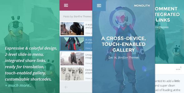 Monolith – WP theme for bloggers and professionals