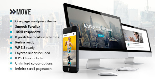 Move – Responsive OnePage Parallax WordPress Theme