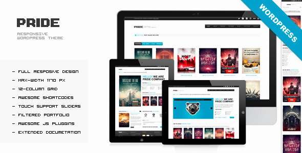PRIDE – Responsive WordPress Theme