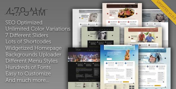 4:79 AM – Multipurpose WordPress Theme