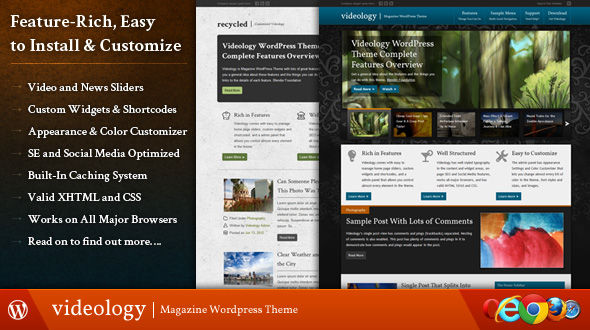 Videology Magazine WordPress Theme