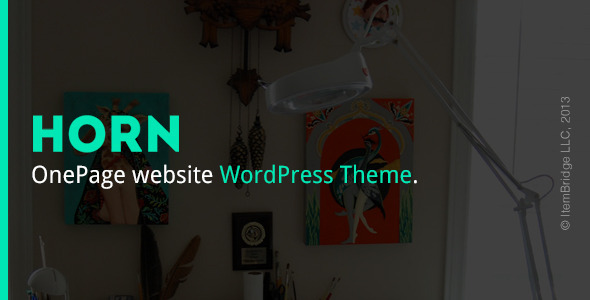 Horn — Responsive OnePage WordPress Theme