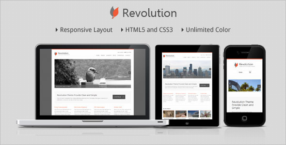 Revolution – Responsive Minimalist WordPress Theme