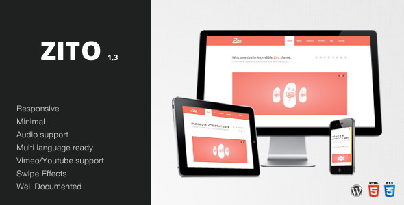 Zito – Minimal & Responsive / WordPress