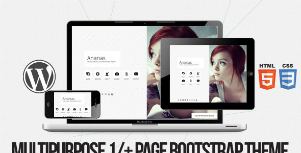 Ananas – Multi purpose 1/+ page Bootstrap Theme