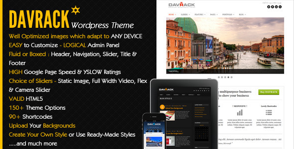 Davrack – Multipurpose Responsive WordPress Theme