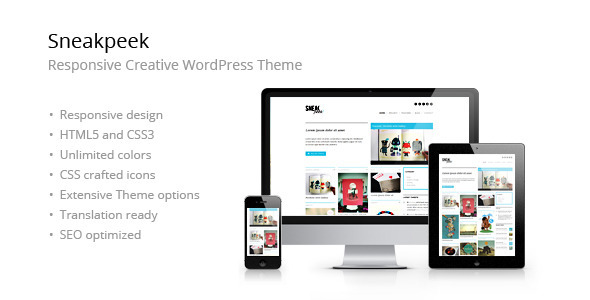 Sneakpeek Creative Portfolio WordPress Theme