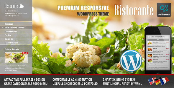Ristorante Responsive Restaurant WordPress Theme