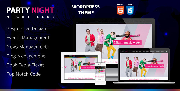 Party Night – Night Club WordPress Theme
