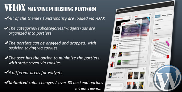 VELOX-Drag & Drop Magazine Publishing Platform