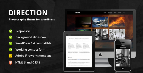 Direction – Photography Theme for WordPress