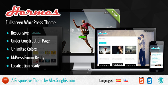 Hermes – Fullscreen Premium WordPress Theme