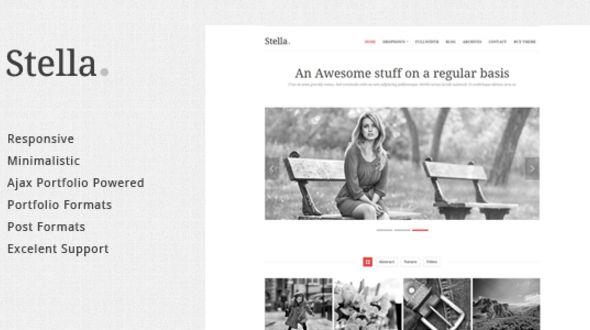 Stella Responsive WordPress Portfolio Theme