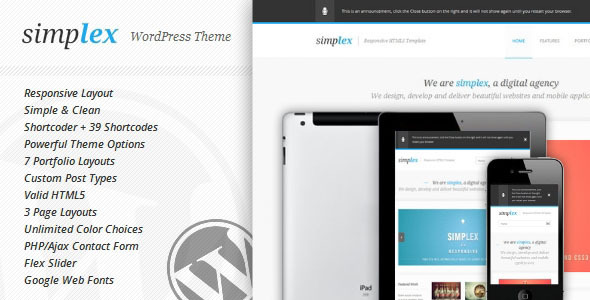 Simplex – Responsive WordPress Theme