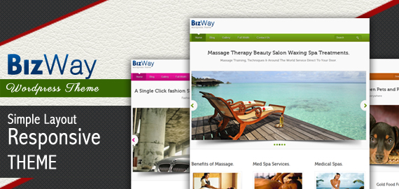 BizWay Responsive Clean & Simple Business WordPress Theme