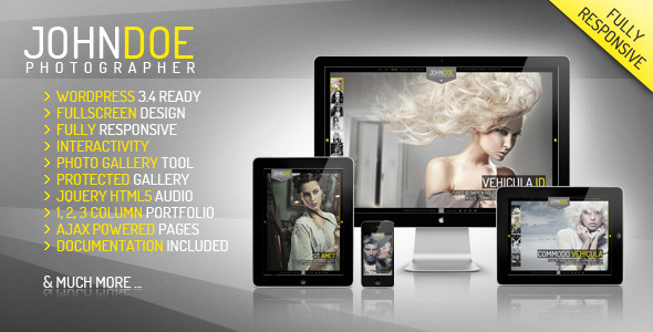 J.Doe Responsive Photography WordPress Theme
