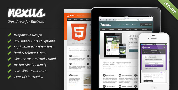 Nexus – Responsive Business WordPress Theme