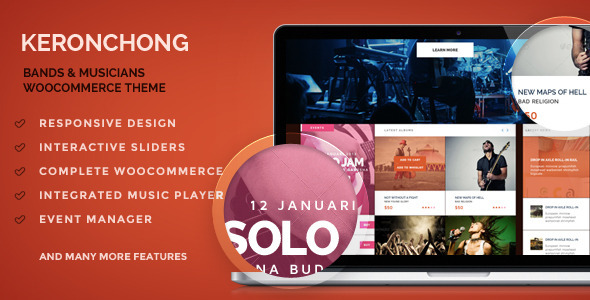 Keronchong – Bands & Musicians WooCommerce Theme