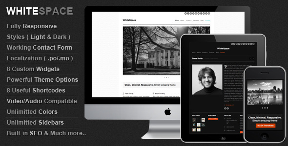 WhiteSpace: Responsive & Minimal WordPress Theme