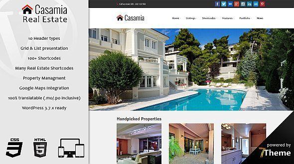 Casamia – a responsive WordPress Real Estate Theme
