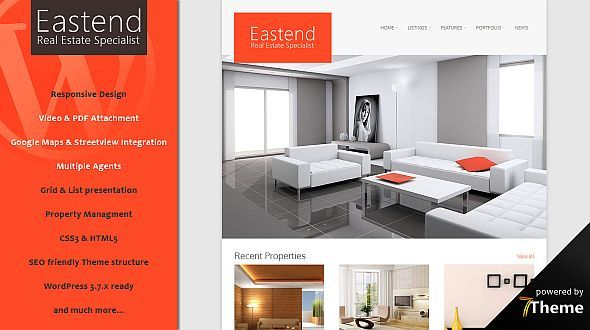 Eastend – a powerful WordPress Real Estate Theme