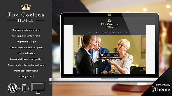 Cortina – a classic WordPress Hotel Theme
