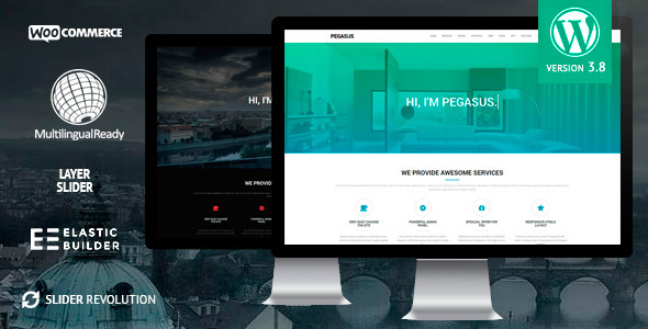 Pegasus WordPress Theme, Parallax, One-Page