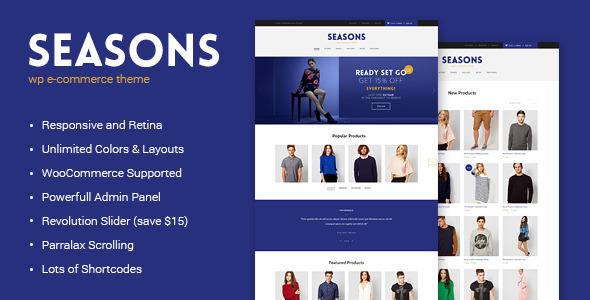 Seasons – WordPress eCommerce Theme