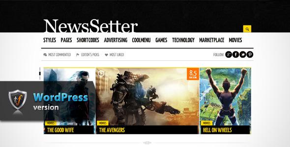 NewsSetter – News WordPress Theme