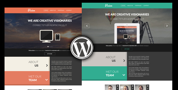Vision – One Page Creative WordPress Theme