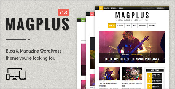 MagPlus – Blog & Magazine WordPress Theme