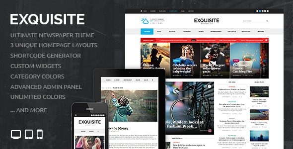 Exquisite – Ultimate Newspaper Theme