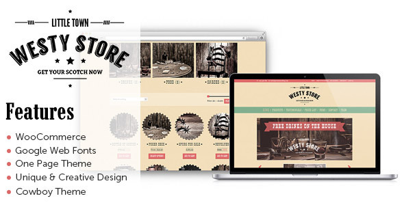 Westy – A One Page Woocommerce WordPress Theme