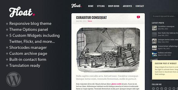 Float – Responsive Blog Theme