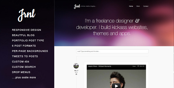 JRNL Responsive WordPress Theme for Creatives.