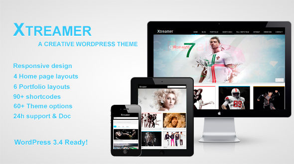 Xtreamer – Responsive Creative WordPress Theme