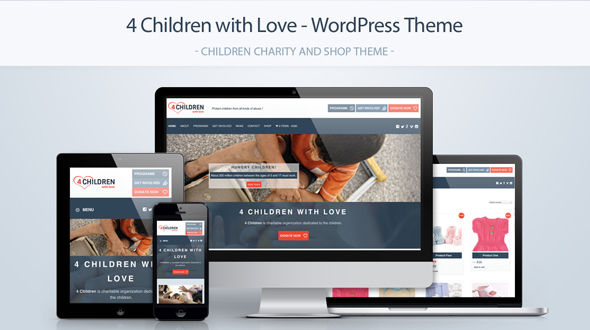 4 Children with Love – Charity WordPress Theme