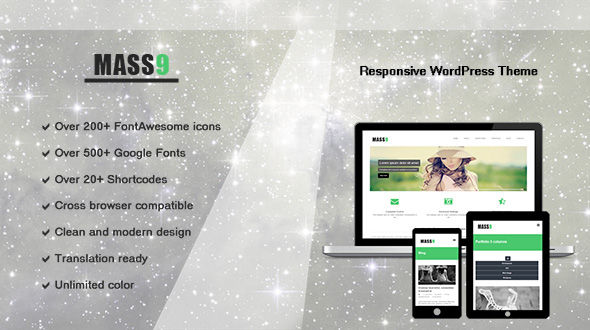 Mass9 – Responsive WordPress Portfolio Theme