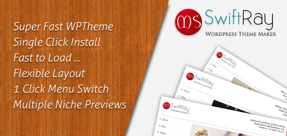 SwiftRay Fastest Premium WordPress Theme
