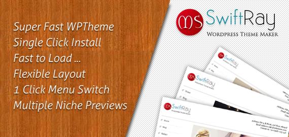SwiftRay Fastest Premium WordPress Theme