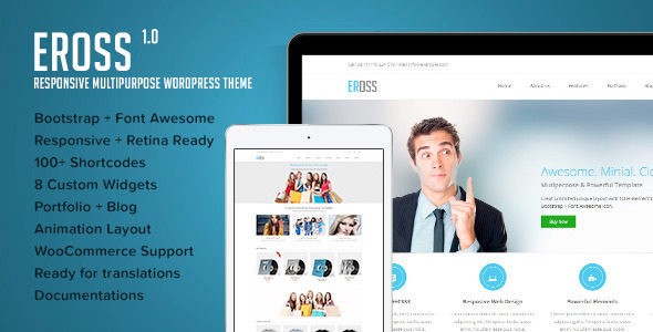 Eross – Responsive Multipurpose WordPress Theme