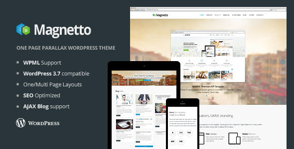 Magnetto – Onepage Parallax WordPress Theme