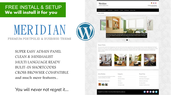 Meridian Portfolio & Business WordPress Theme
