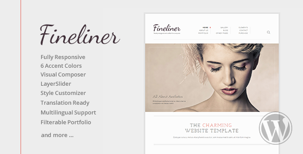 Fineliner – Responsive Portfolio WordPress Theme