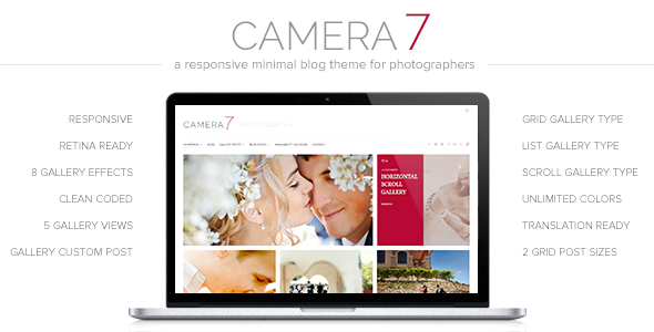 Camera 7 – Photography WordPress Theme
