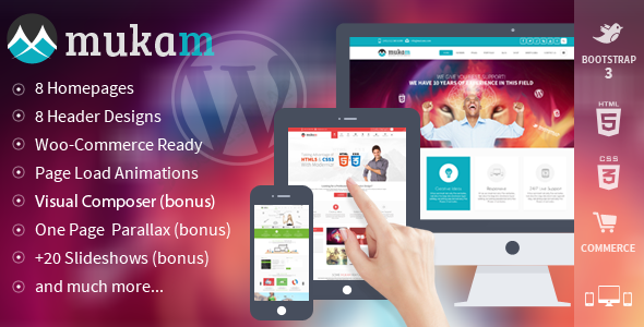 Mukam – Limitless Multipurpose WordPress Theme
