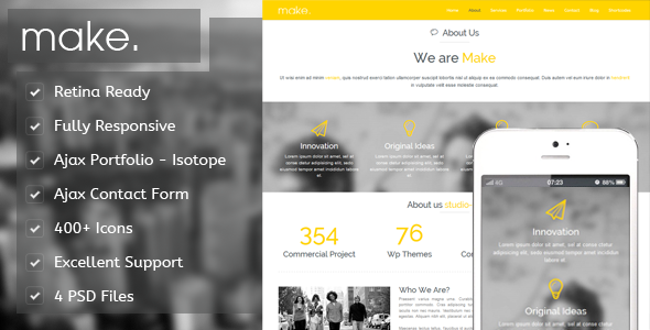 Make – Responsive Parallax Onepage WordPress Theme