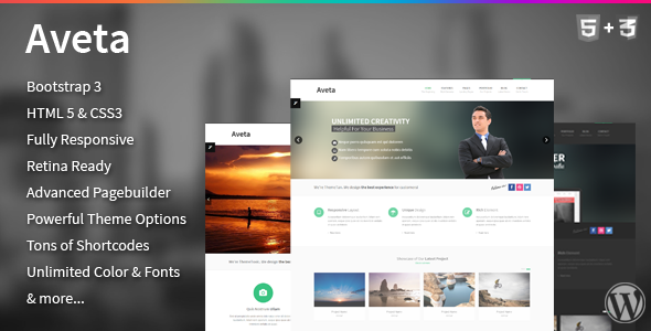 Aveta – Responsive Multi-Purpose Theme