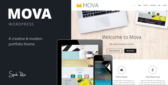 Mova – WordPress Theme for creative minds